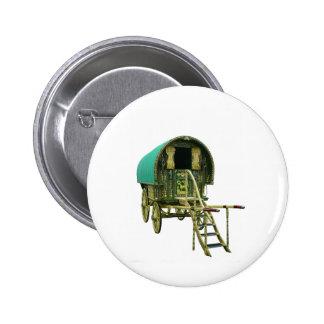 Gypsy bowtop caravan 2 inch round button