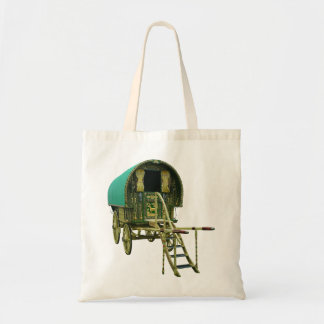Gypsy bowtop caravan budget tote bag