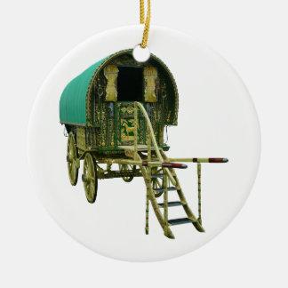 Gypsy bowtop caravan ceramic ornament