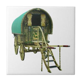 Gypsy bowtop caravan ceramic tile