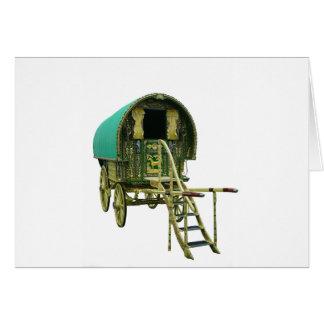 Gypsy bowtop caravan greeting card