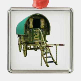 Gypsy bowtop caravan metal ornament