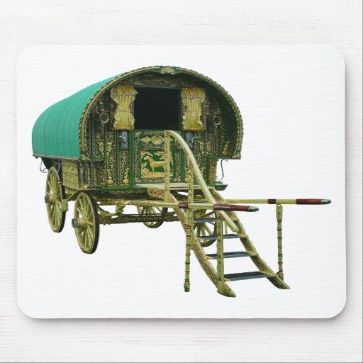Gypsy bowtop caravan mousepads