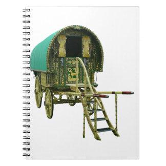 Gypsy bowtop caravan notebook