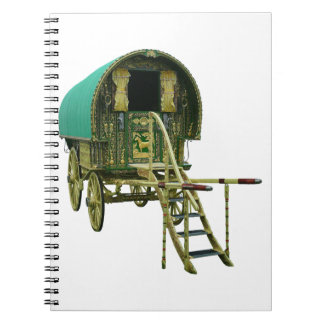 Gypsy bowtop caravan spiral notebook