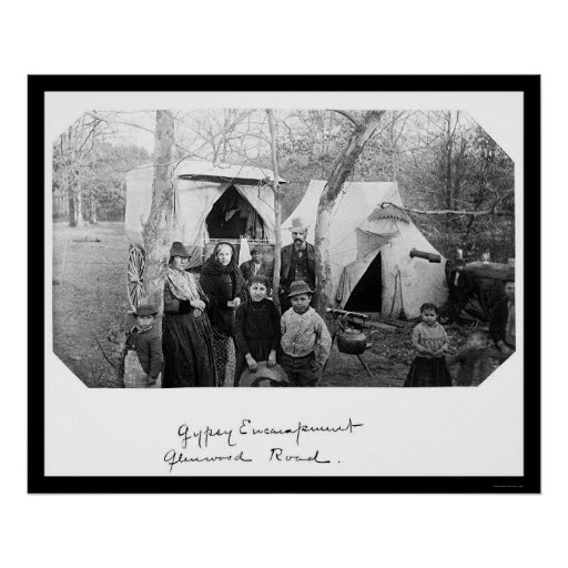 Gypsy Camp in Bethesda, MD 1888 Poster
