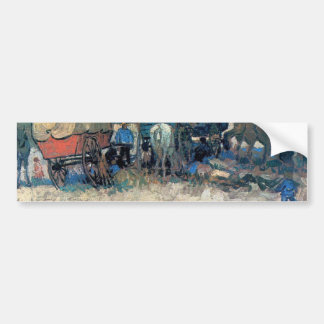 Gypsy camp with horse carriage - Vincent van Gogh Bumper Sticker