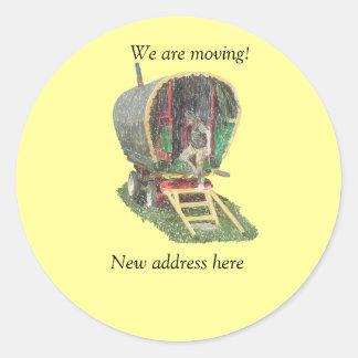 Gypsy Caravan Moving Stickers