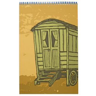 Gypsy caravan wagon calendar