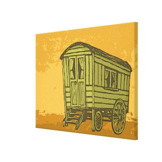 Gypsy caravan wagon canvas print