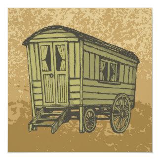 Gypsy caravan wagon card