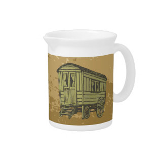 Gypsy caravan wagon drink pitcher