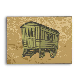 Gypsy caravan wagon envelope