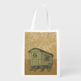Gypsy caravan wagon grocery bag