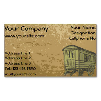 Gypsy caravan wagon magnetic business card