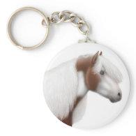 Gypsy Cob Paint Horse Keychain