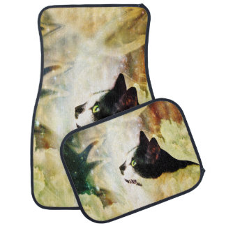Gypsy Da Fleuky Cat and the Kitty Whisker Wishes Car Floor Mat