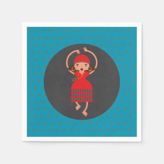 Gypsy Dancing girl Birthday Party Paper Napkin