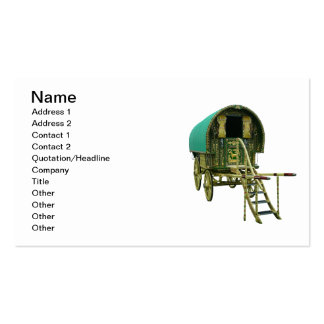 Gypsy door detail business card template