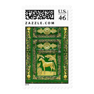 Gypsy door detail postage stamps