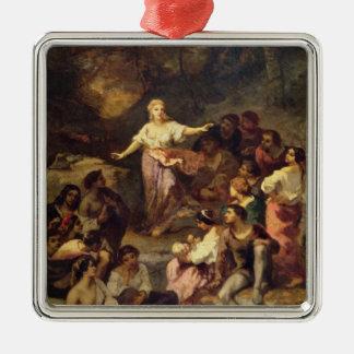 Gypsy Encampment, 1848 Metal Ornament