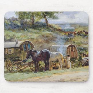 Gypsy Encampment, Appleby, 1919 Mouse Pad
