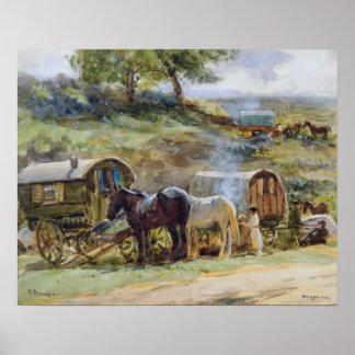 Gypsy Encampment, Appleby, 1919 Poster
