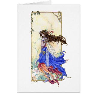 Gypsy Fairy Card, fantasy art by Meredith Dillman Card
