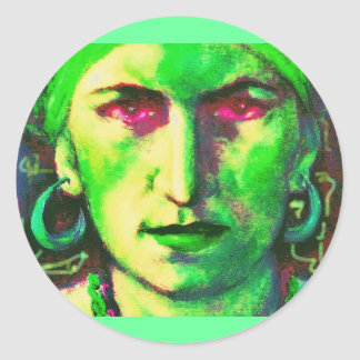 gypsy fortune teller classic round sticker