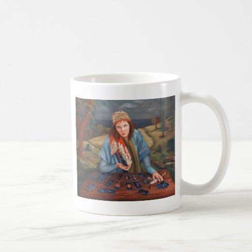 Gypsy Fortune Teller Classic White Coffee Mug