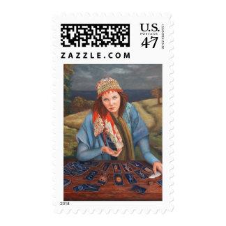 Gypsy Fortune Teller Postage Stamp