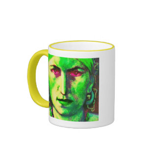 gypsy fortune teller yellow ringer mug