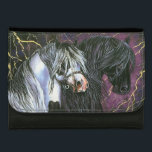 """Gypsy &amp; Friesian Horses Wallet<br><div class=""""desc"""">From an original painting by Sandra Snow</div>"""
