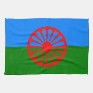 gypsy gipsy people flag towel nomad rrom roman