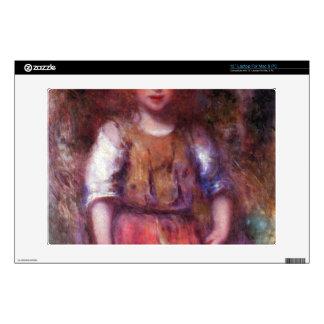 Gypsy girl by Pierre Renoir Laptop Decal