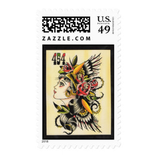 Gypsy Girl Postage Stamps