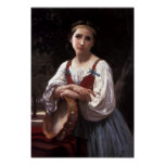 Gypsy Girl with a Basque Drum by Bouguereau Print