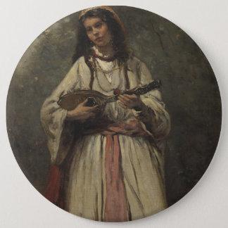 Gypsy Girl with Mandolin Button