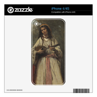 Gypsy Girl with Mandolin Decal For The iPhone 4S