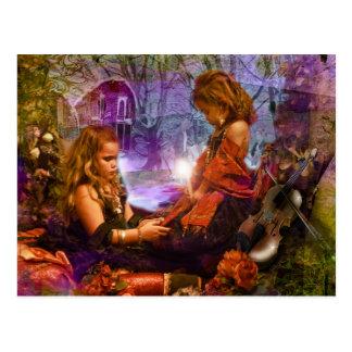 gypsy girls post card