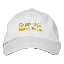 Gypsy Gold Horse Farm white ballcap Embroidered Baseball Cap