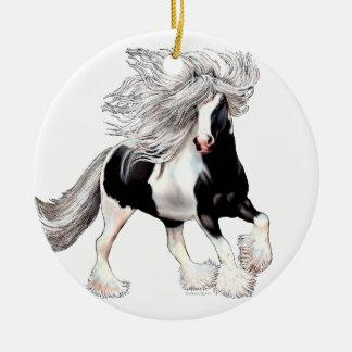 Gypsy Horse Casanova Ceramic Ornament