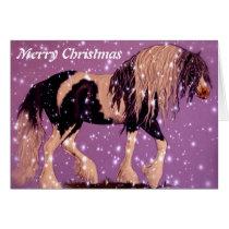 Gypsy Horse Christmas Card