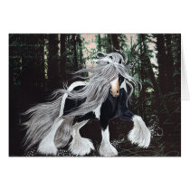 Gypsy Horse Fantasy in the Forest