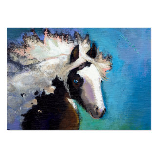 Gypsy Horse running passion colorful painting art Business Card Templates