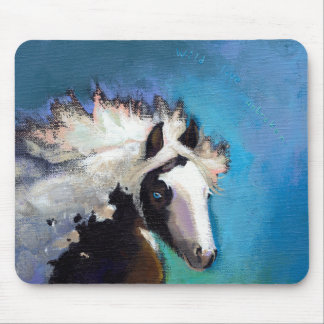 Gypsy Horse running passion colorful painting art Mouse Pad