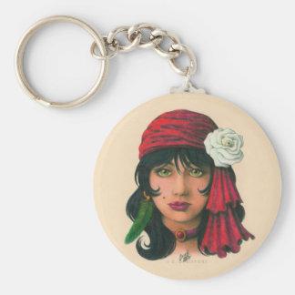 Gypsy II Basic Round Button Keychain