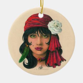 Gypsy II Ceramic Ornament