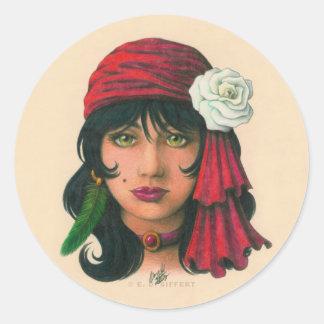 Gypsy II Classic Round Sticker