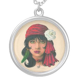 Gypsy II Round Pendant Necklace